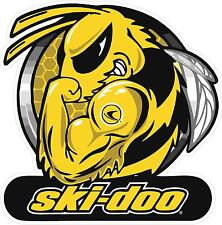 "#M123 4"" (1) Skidoo Ski-doo Bee Snowmobile Sticker Decal Sled Tattoo Yellow"