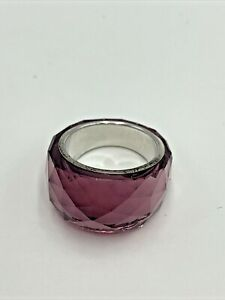 SWAROVSKI Lavender Crystal Nirvana Women's RING Size 58