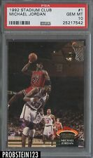 1992-93 Topps Stadium Club #1 Michael Jordan Chicago Bulls HOF PSA 10