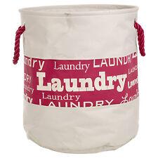 28 or 40 Litre Washing Laundry Clothes Basket Bag Bin Rope Handle Storage Hamper