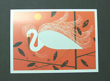 "Charles/Charley Harper Notecards ""Snowy Egret"" 4 Pack w/Envelopes"