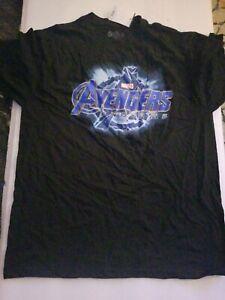 NWT Marvel Comics Avengers Endgame Movie Logo kids T-Shirt size XL 100% cotton