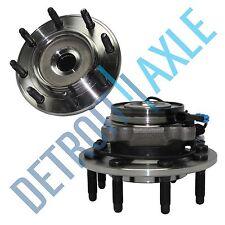 Set (2) NEW Front Wheel Hub & Bearing Assembly Sierra Silverado Suburban 8 Lug