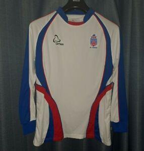 FC Clacton Non League Football Shirt Mens Small Soccer Jersey S Long Sleeved Top