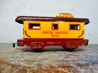 Vintage Marx Train Tin Litho Car UNION PACIFIC 3824 Caboose