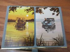 Congress Fishing Boat Playing Cards Cel-U-Tone Finish 2 Deck 1 Unopened MINT