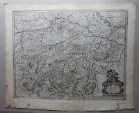 Kupferstichkarte Bavaria Ducatus Oberbayern um 1610 Landkarte Geografie sf