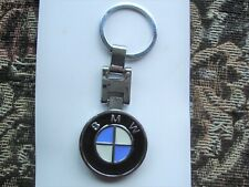 NEW BMW DOUBLE SIDED CHROME AND  ENAMEL KEY RING