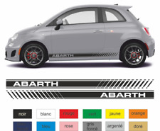 Fiat 500 Autocollants bandes Abarth - kit stickers décoration adhésif