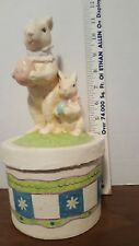 Vintage Rabbit Candy Container Paper Mache Easter Bunny Rabbit Shabby Primitive