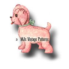 Vintage Stuffed Animal Pattern ~ Puppy Dog