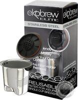Ekobrew Elite Stainless Steel Reusable K-Cup Filter for Keurig 2.0 & 1.0 Brewers