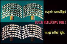 MAVIC COSMIC 40 C BLACK REFLECTIVE  RIM DECAL SET FOR 2 RIMS