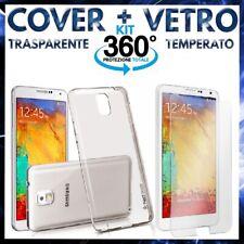 COVER CUSTODIA TPU + PELLICOLA VETRO TEMPERATO PER SAMSUNG GALAXY NOTE 3 N9005