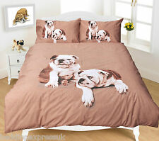 Animal Print Duvet Quilt Cover Set with Pillowcase Single Double Super King Size