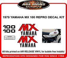 1979 YAMAHA MX 100 REPRODUCTION DECAL SET, 80