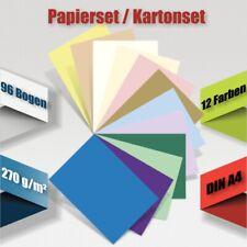 Kartonset A4, 96-tlg., 270 g/m² ~ Tonkarton Bastelkarton Kartenkarton ~ #7001&2