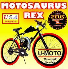 "2-Stroke 66Cc/80Cc Motorized Bike Kit With 26"" Bicycle + Power Pipe!"
