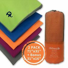 Travel towel microfiber (ORANGE) 2 packs