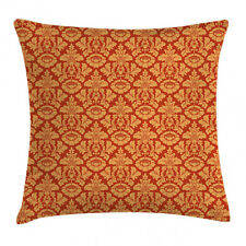 Antique Throw Pillow Case Royal Victorian Damask Square Cushion Cover 18 Inches