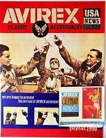 Placa Metal Publicidad Vintage Cuero Avirex Calendario 1990-38 X 29CM