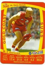 2011 AFL TEAMCOACH GOLD COAST SUNS GARY ABLETT 79 COMMON CARD free post