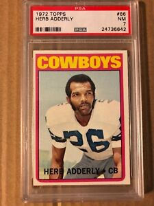 HERB ADDERLY 1972 TOPPS #66 PSA 7.0 COWBOYS