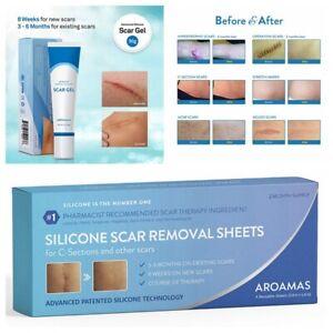 Aroamas Advanced Scar Sheets/Gel Medical-Grade Silicone for New & Old Scar