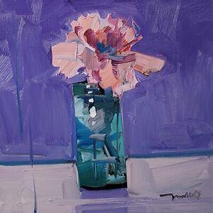 JOSE TRUJILLO Oil Painting IMPRESSIONISM 12X12 STILL LIFE ORIGINAL MODERN ARTIST