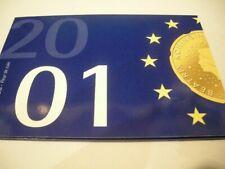 Nederland FDC set 2001 met de gulden munten 5 cent - 5 gulden