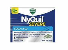 Vicks NyQuil Severe Cold - Flu Caplets, 24 caplets