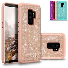 For Samsung Galaxy S9 Plus Bling Shiny Glitter Hybrid Protective Shockproof Case