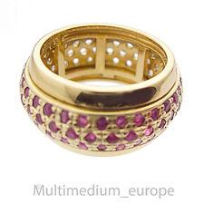 Silber Ring 925 Sterling Silber vergoldet Rubin weiß Saphir silver ruby sapphire