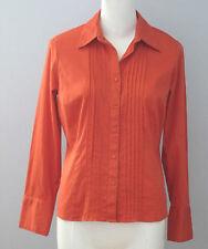 CLEO PETITES Size M Orange Long Sleeve Blouse