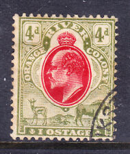 ORANGE RIVER COLONY 1903 EVII SG150a 4d wmk MCA variety 'IOSTAGE' v/f/u cat £250