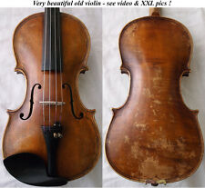 RARE BEAUTIFUL OLD VIOLIN - see VIDEO - VIOLINO ANTIQUE バイオリン скрипка 小提琴 986