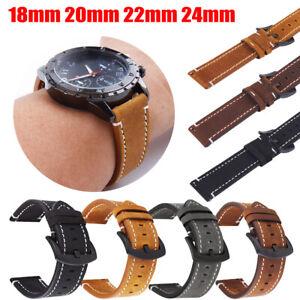 Retro Leder Matt Uhrband Uhrenarmband Uhrenband Ersatz 4 Farben 18/20/22/24mm