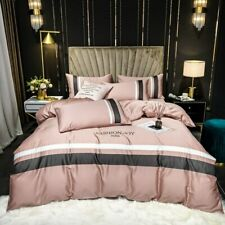 Bedding Set Luxury 100% Egyptian Cotton Bed Cover Sets Solid Color Duvet Cover