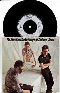 "THE JAM WHEN YOU'RE YOUNG 7"" VINYL 45  POLYDOR POSP69 FIRST PRESS 1977"