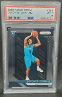 2018 Panini Prizm Devonte Graham Rookie RC PSA 9 MINT NBA Hornets
