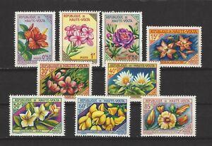 UPPER VOLTA BURKINA FASO FLOWERS 1963 MNH
