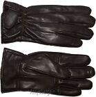 Men's leather gloves, (XXL) Brown Unbranded winter gloves lined warm gloves BN 1