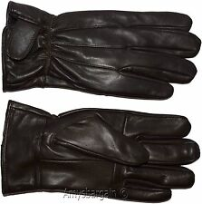 Men's leather gloves, (XXL) Brown Unbranded winter gloves lined warm gloves BN 1