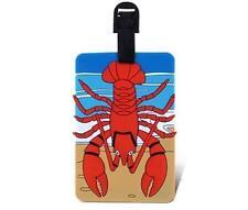 Red Lobster Luggage Name Tag Sea Life Backpack Diaper Bag ID Badge USA