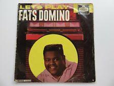 FATS DOMINO ORIG 1960 UK LP    LETS PLAY FATS DOMINO   LONDON HA-P 2223