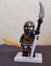 Lego Ninjago Minifigure Black Cole Ninja Minifig Black Mask 2015