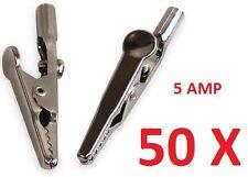 50 X 5 AMP CROCODILE CROC CLIP 5A BATTERY CHARGER CARAVAN ELECTRIC CLAMP TEST