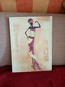 African Lady Canvas Wall Art