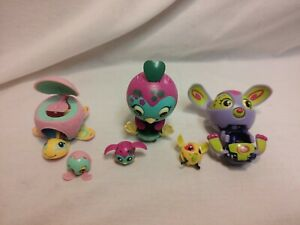 Zoobles- Lot of 6 Zoobles Mama and Babies