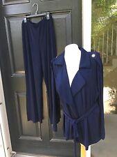 New Chico's Travelers Empress Blue Navy Utility Wrap Jacket Sz 3 = XL 16 18 NWT